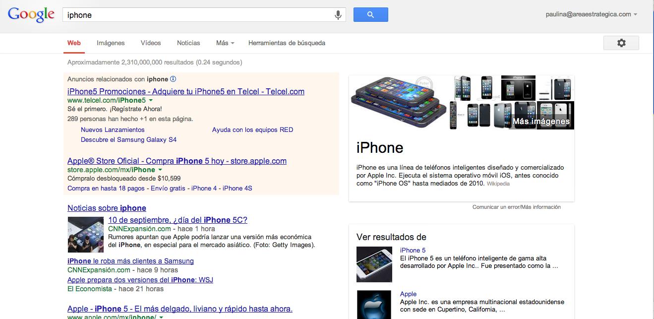 búsqueda iphone