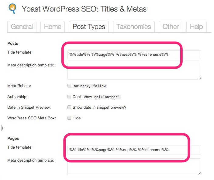 yoast post types